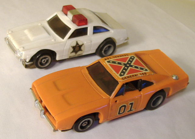 Ideal Tcr Chevy Nova Jam Car Blue With Red Roof Checkers