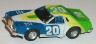 AFX T-bird stocker, white with blue, lime, and yellow