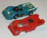 AFX Day and Night Rally set, Ferrari 512M car and Porsche 917 body view