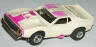 AFX Javelin prostock slotcar, white with violet.