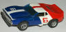 AFX Javelin trans am, white with red and blue #6