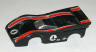 Tyco HP2 McLaren M8F, black with red and white stripes #4, body