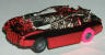 Tyco Doomsday Duel slot car, candy red.