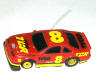 Tyco TCR slotless Ford Thunderbird stock car, red with yellow #8