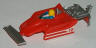 Tyco Ferrari F1 red factory unfinished slot car body